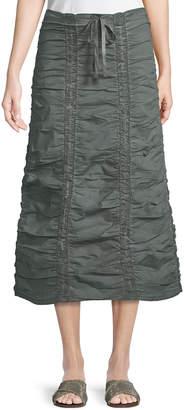 XCVI Double Shirred Paneled Skirt, Dark Gray