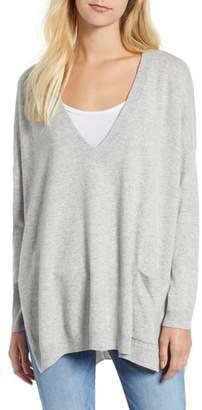 Vineyard Vines Deep V-Neck Poncho Sweater