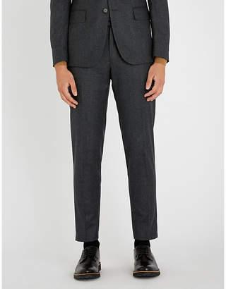 Sandro Jupiter mid-rise slim-fit wool trousers
