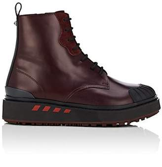Valentino Men's Bootboy Leather Boots - Wine
