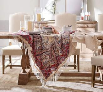 Pottery Barn Sashi Fringed Table Throw