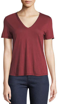 Veronica Beard Cindy V-Neck High Low Tee