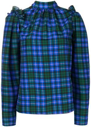 MSGM tartan blouse