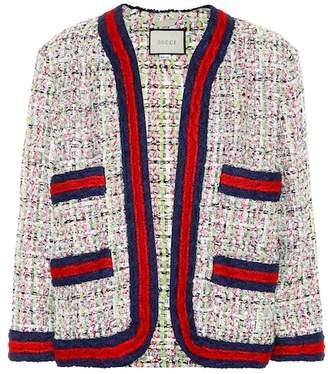 Gucci Embellished tweed cardigan