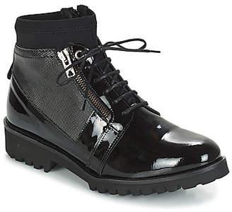 Regard REJALOU V1 VERNIS NOIR women's Mid Boots in Black