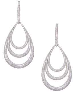 Adriana Orsini Cubic Zirconia Lobe Drop Earrings