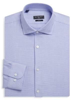 Saks Fifth Avenue MODERN Zigzag Cotton Dress Shirt