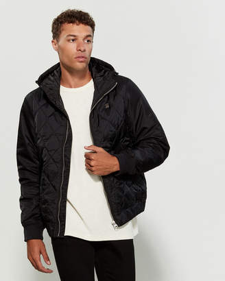 G Star Raw Black Hybrid Hooded Overshirt