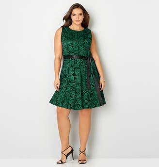 Avenue Seamed Velvet Dress