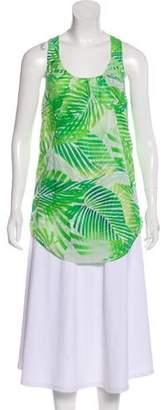 Diane von Furstenberg Leaf Print Sleeveless Top