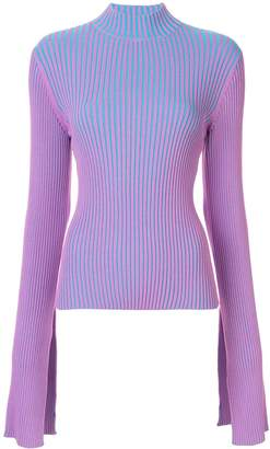 SOLACE London ribbed slit cuff top