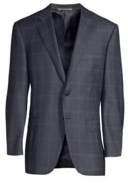 Canali Classic-Fit Wool Windowpane Sportcoat