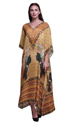 6e6357a0a11e Phagun Tribal African Ladies Plus Size Kaftan Summer Wear Beach Coverup  Kimono Caftan