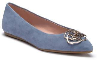 Taryn Rose Fiona Point Toe Suede Flat
