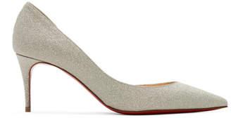 Christian Louboutin Silver Glitter Iriza Heels