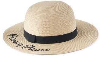 "Lauren Conrad Women's Privacy Please"" Straw Floppy Hat"