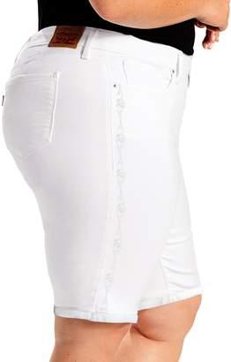 Levi's Levis Plus Size Shaping Bermuda Jean Shorts