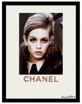 Luxe West Fall Fashion Twiggy Collection Chanel Ad Print