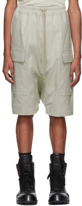 Rick Owens Grey Drawstring Pods Cargo Shorts