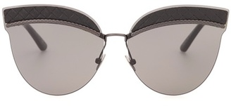Leather-trimmed sunglasses