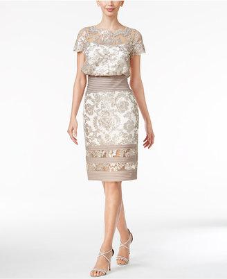 Tadashi Shoji Illusion Lace Blouson Dress $348 thestylecure.com