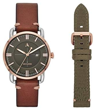 Eleven Paris One Women's SW1 Solar Quartz Two-Tone Stainless Steel and Leather Casual Watch