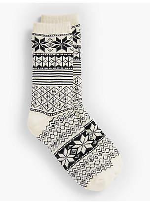 Talbots Fair Isle Snowflake Socks