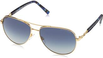 Michael Kors Sabina III Aviator Sunglasses in Gold Blue MK5014 10244L