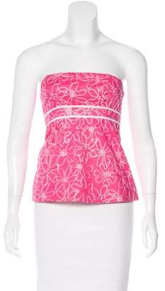 Lilly Pulitzer Strapless Embroidered Top