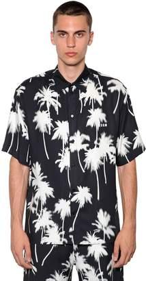 MSGM Palm Print Viscose Shirt