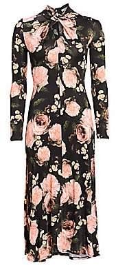 Erdem Women's Nolene Floral Midi Dress