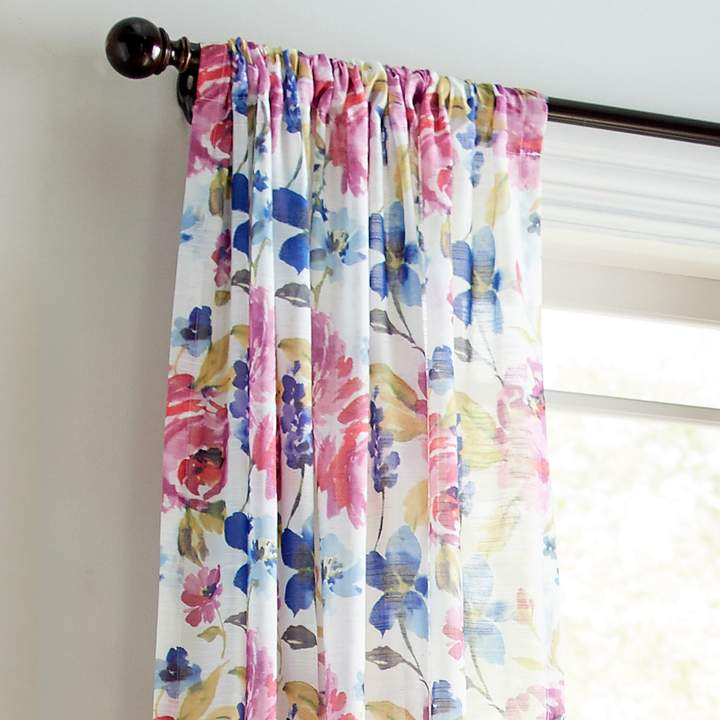 Watercolor Floral Sheer 84