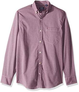Izod Men's Premium Performance Natural Stretch Solid Long Sleeve Shirt (Regular and Slim Fit)