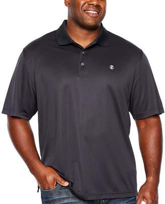Izod Ss Champion Short Sleeve Grid Jacquard Polo Shirt- Big and Tall