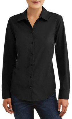 Time and Tru Women's Classic Career Shirt