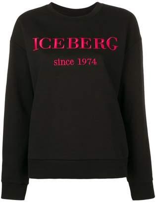 Iceberg embroidered logo sweatshirt