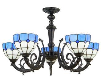 Tiffany & Co. Emporium Upside-Down Blue & White Geometric Pendant