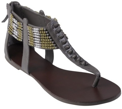 Journee Collection Womens Bead Accent T-strap Sandals