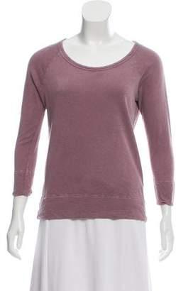 James Perse Heavy Knit Scoop Neck Sweatshirt