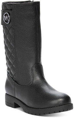Michael Kors Faux Leather Dahlia Boots, Toddler Girls (4.5-10.5) & Little Girls (11-3) $76 thestylecure.com