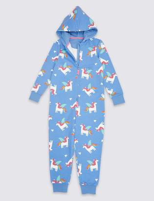 Marks and Spencer Pure Cotton Unicorn Onesie (1-16 Years)