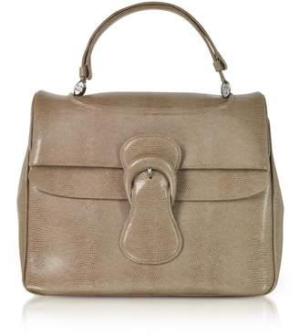 Rodo Lizard Embossed Leather Satchel Bag