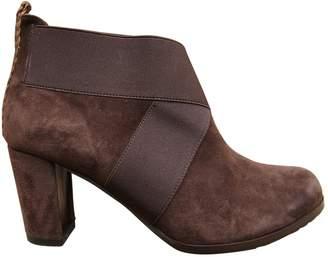 Stephane Kelian Brown Suede Ankle Boots