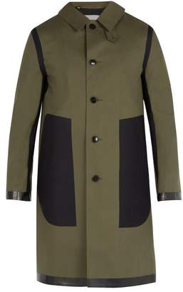 MACKINTOSH Contrast Panel Bonded Cotton Overcoat - Mens - Green