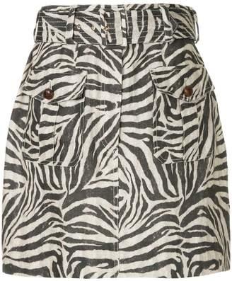 Zimmermann zebra print skirt