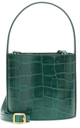 Staud Bissett embossed leather bucket bag