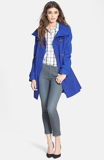 Genetic Denim 'Alina' Zip Cuff Crop Jeans (Vanish)