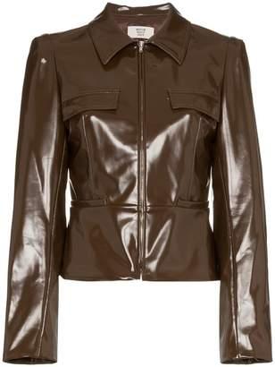 Maryam Nassir Zadeh fitted zip jacket