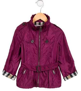 Burberry Girls' Lightweight Hooded Jacket