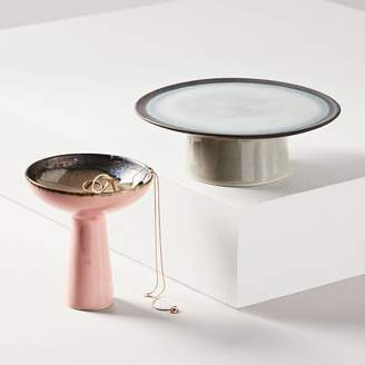 west elm Reactive Glaze Pedestal Trinket Dish